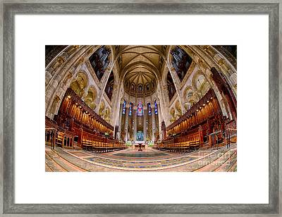 St John The Divine Sanctuary Framed Print by Jerry Fornarotto