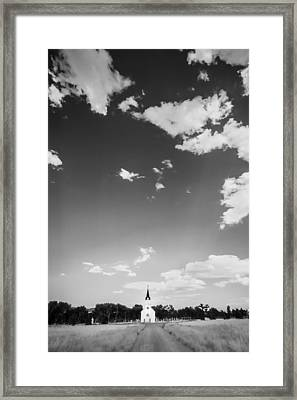 St John The Evangelist Catholic Church Bw Framed Print