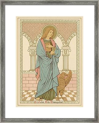 St John The Evangelist Framed Print by English School