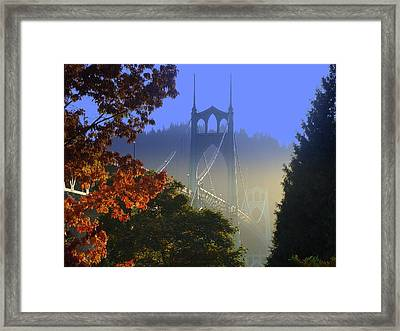 St. Johns Bridge Framed Print by DerekTXFactor Creative
