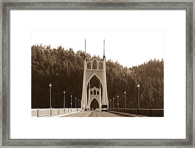 St. John's Bridge Framed Print by Patricia Babbitt