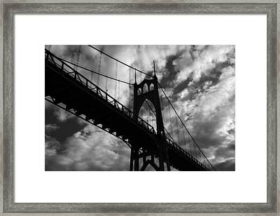 St Johns Bridge Framed Print