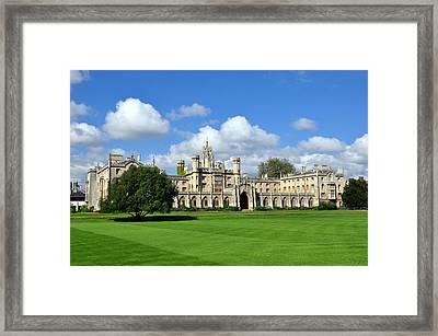 St. John's College Cambridge Framed Print