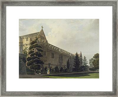 St Johns College Seen From The Garden Framed Print