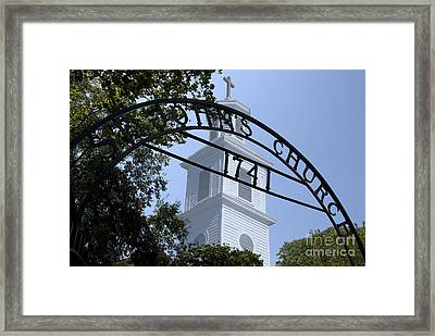 Framed Print featuring the digital art St. John's by Kelvin Booker