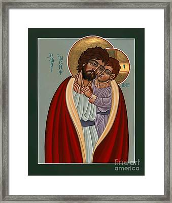 Framed Print featuring the painting St. Joseph And The Holy Child 239 by William Hart McNichols