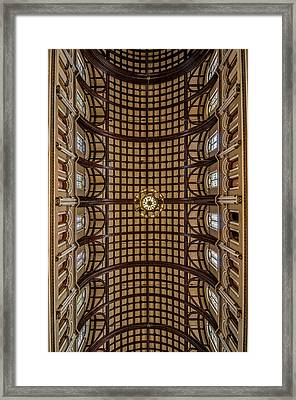 St. Joseph Church Ceiling Framed Print by Andy Crawford