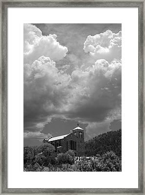 St Joseph Church Mescalero New Mexico Framed Print by Mark Goebel
