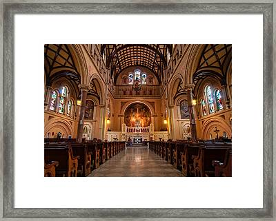 St. Joseph Church - New Orleans Framed Print by Andy Crawford