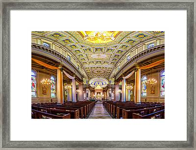 St. Joseph Co-cathedral Distorted Framed Print