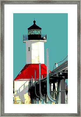 St. Joseph Lighthouse Michigan Framed Print by Dan Sproul
