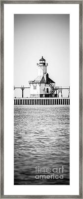 St. Joseph Lighthouse Vertical Panoramic Photo Framed Print