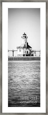 St. Joseph Lighthouse Vertical Panoramic Photo Framed Print by Paul Velgos