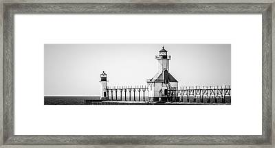 St. Joseph Lighthouses Panorama Picture Framed Print by Paul Velgos