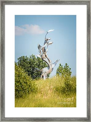 St. Joseph Michigan And You Seas Metal Sculpture Framed Print by Paul Velgos