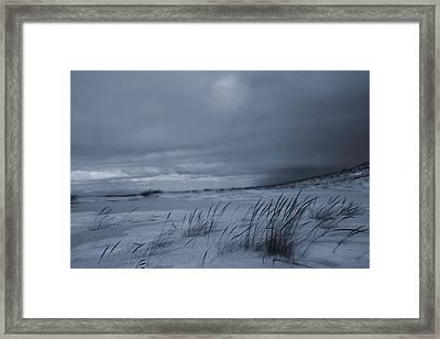 St Joseph Michigan Beach In Winter Framed Print by Dan Sproul