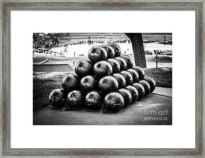 St. Joseph Michigan Cannon Balls Picture Framed Print by Paul Velgos