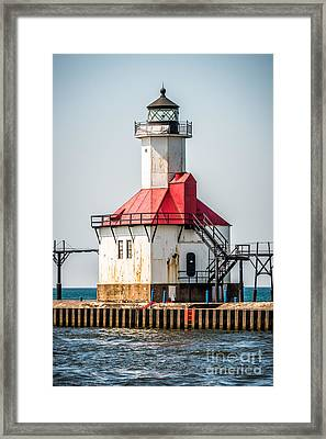 St. Joseph Michigan Lighthouse Picture  Framed Print by Paul Velgos