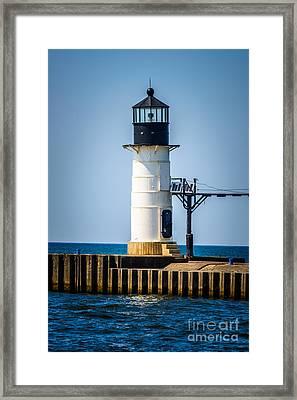 St. Joseph Outer Lighthouse Photo Framed Print by Paul Velgos