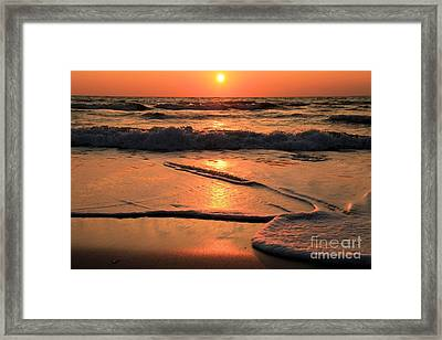 St. Joseph Sunset Swirls Framed Print by Adam Jewell