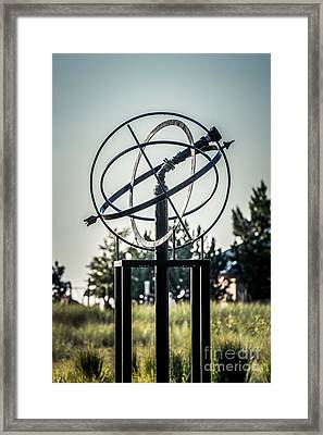 St. Joseph Whirlpool Compass Fountain Water Cannon Framed Print by Paul Velgos