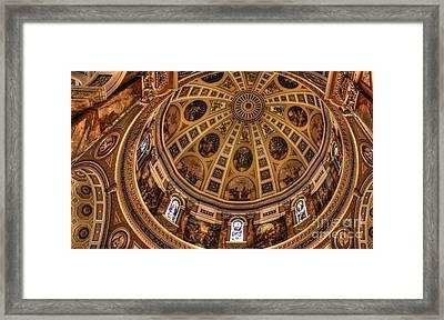 St. Josephat Dome Framed Print by David Bearden
