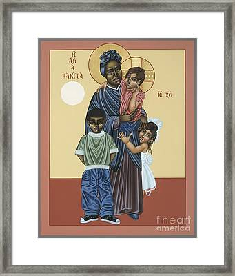 St. Josephine Bakhita Universal Sister 095 Framed Print by William Hart McNichols