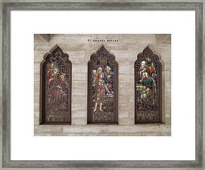 St Josephs Arcade - The Mission Inn Framed Print