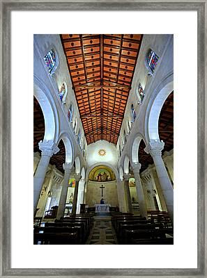 St. Joseph's Church -- Nazareth Framed Print by Stephen Stookey