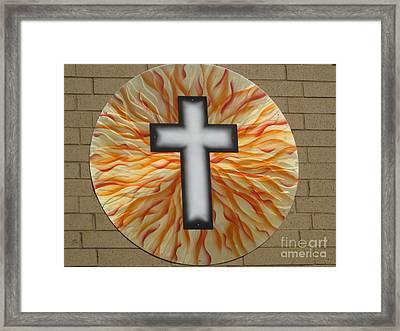 St. Josephs Cross Framed Print by Rick Roth