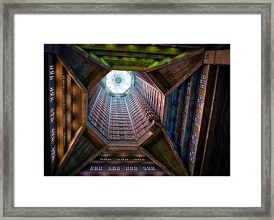 St Joseph's Spire Framed Print by Dave Bowman