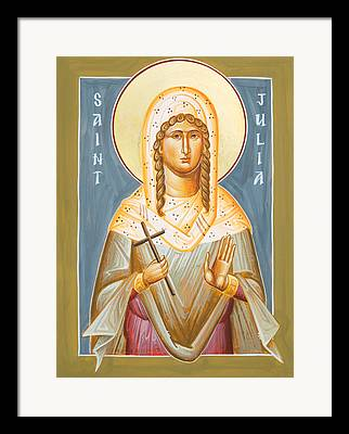St Julia Icon Framed Prints