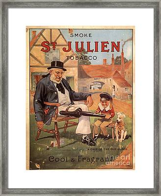 St Julien 1890s Uk Cigarettes Smoking Framed Print by The Advertising Archives