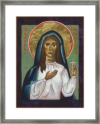 St Kateri Tekakwitha Framed Print by Jennifer Richard-Morrow