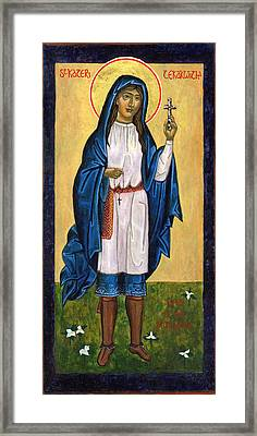St. Kateri Tekakwitha Lily Of The Mohawks Framed Print by Jennifer Richard-Morrow
