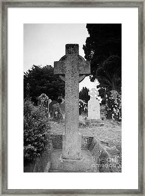 St Kevins Cross High Celtic Cross Grave Stone Glendalough Monastery County Wicklow Republic Of Ireland Framed Print