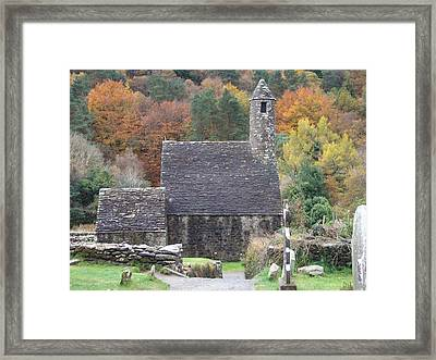 Framed Print featuring the photograph St Kevin's Glendalough Ireland by Alan Lakin