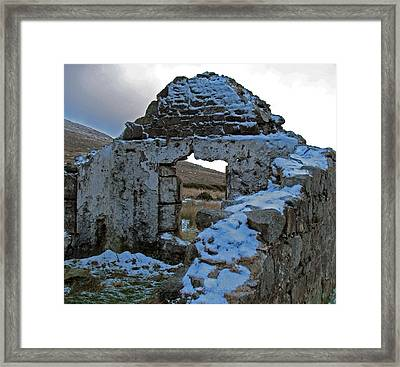 St Kevin's Window Framed Print by Kathleen Scanlan