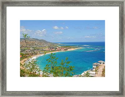 St. Kitts Framed Print by Cindy Manero