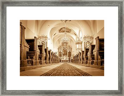 St Laszlo Roman Catholic Church Oradea Romania Framed Print by Nick Mares