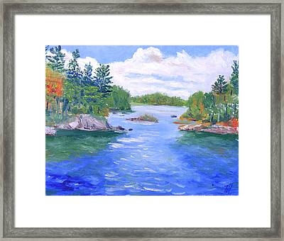 St Lawrence River-view From Waterson State Park Framed Print by Robert P Hedden