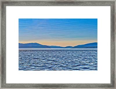 St. Lawrence Seaway Framed Print