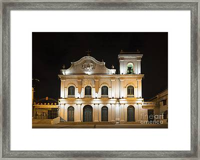 St Lazarus Church In Macau China Framed Print