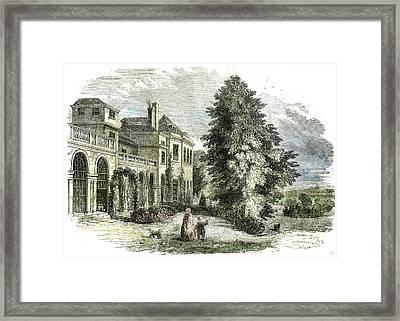St Leonards On The Hill Near Windsor Uk 1852 Framed Print