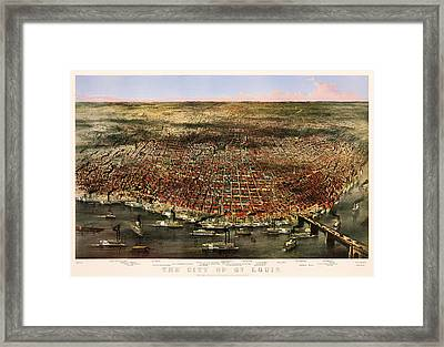 St Louis 1873 Framed Print by Mountain Dreams