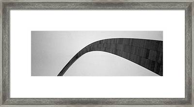 St. Louis Arch Framed Print by Mary Bedy