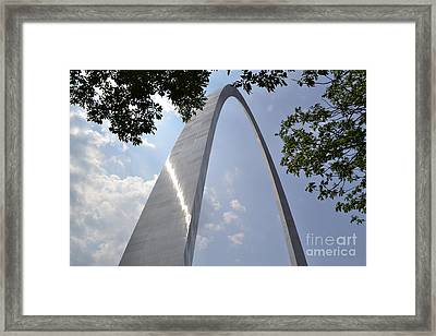 Framed Print featuring the photograph St. Louis Arch by Utopia Concepts