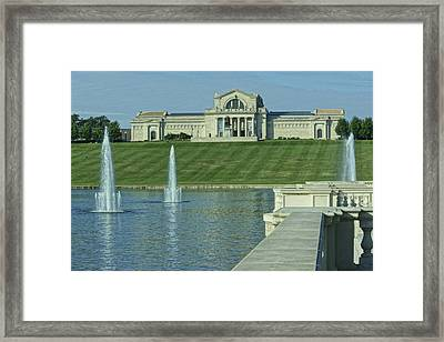 St Louis Art Museum And Grand Basin Framed Print by Greg Kluempers