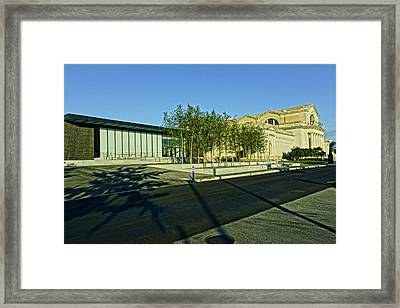 St Louis Art Museum New And Old Framed Print by Greg Kluempers