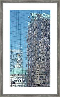 St. Louis Bldg Reflections Framed Print by Cindy Croal